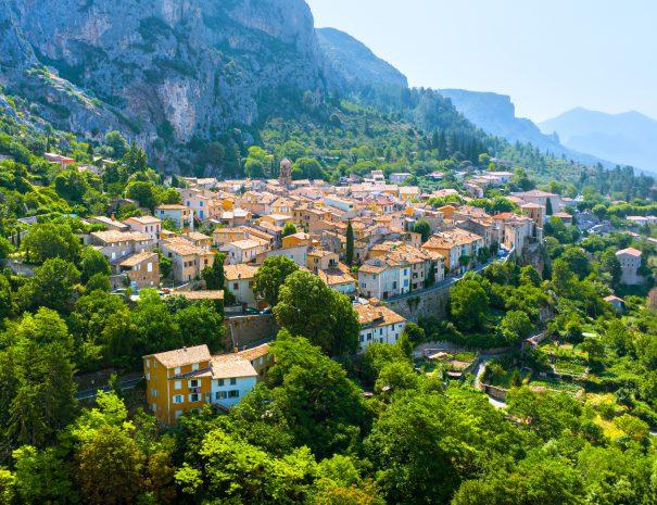 The Village of Moustiers-Sainte-Marie, France
